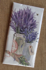 Flour Sack Towel Designed by Mary Lake Thompson - Lavender and Glass Jars