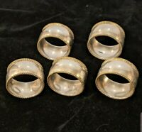 Sterling Silver Napkin Rings Set .925 Taxco Silver  - Beautiful!!!
