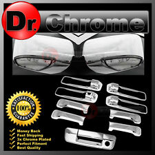 13-15 RAM Chrome Mirror w/Light hole+4 Door Handle+Tailgate w. KH no CM Cover