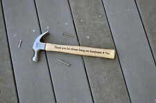 engraved hammer, Laser engraving,Custom Hammer, Personalized, Gift for him