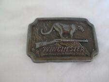 Vintage WINCHESTER BELT BUCKLE MORE THAN A GUN AN AMERICAN LEGEND MT LION