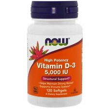 Now Foods Vitamin D-3 High Potency 5000 Iu 120 Softgels