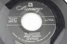 Sarah Vaughan: Mr. Wonderful / You Ought to Have a Wife   [VG++ Copy]