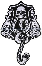 Harry Potter DARK MARK Lord Voldemort's DEATH Embroidered Iron /Sew On Patch