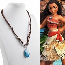 New Style 1x Princess Moana Necklace Cosplay Heart of Te Fiti Vogue Blue Pendant