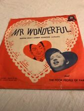 Larry Clinton Susan Silo Mr. Wonderful Poor People Of Paris 45 RPM Record