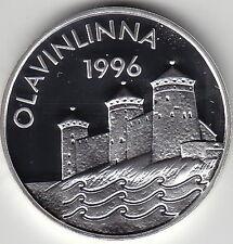 1996 Finland Large silver Proof 20 euro Olavinlinna Castle