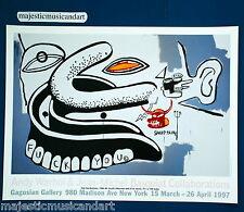 ANDY WARHOL JEAN-MICHEL BASQUIAT ORIGINAL 1997 GALLERY POSTER MINT RARE