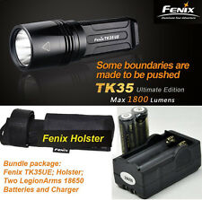 Fenix TK35UE 2000Lm Cree XHP 50 LED Flashlight 18650 Rechargeable Battery Pack