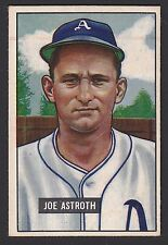1951 Bowman #298 Joseph Joe Astroth RC Philadelphia Athletics Hi # baseball card