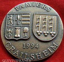 MED2776 - MEDAILLE JUMELAGE VILLES DE PAMIERS & CRAILSHEIM 1994 - FRENCH MEDAL