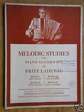Accordéon musique Fritz ladewig Melodic Studies, livre 3