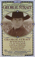 George Strait 1999 2nd Country Music Festival Original Promo Poster