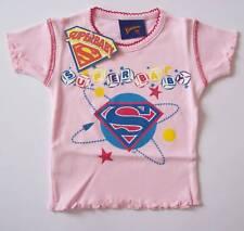T-SHIRT MAGLIA SUPERMAN ORIGINALE rosa bambina 6 anni