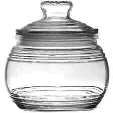Set of 2 Candy/flour/sugar/Jars with Ribbed Accents and Tight-Sealing Lids,19oz
