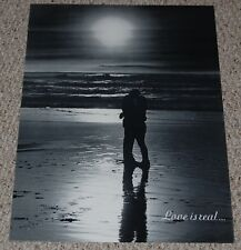 LOVE IS REAL Poster 1970 Wespac W215 California Ocean Beach Sunset Hippie Couple