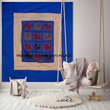 Indian Sequin Elephant Patchwork Embroidered Tapestry Wall Hanging Decorative