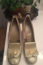 Vintage Lifestride Gold Glitter Sparkle Pumps~Pinterest Wedding Party Worthy!