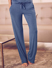 M&S Rosie for Autograph Blue Straight Leg Pyjama Bottoms Sz18  Elasticated Waist
