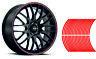 Decalcomanie per adesivi a strisce per auto o moto *8mm* Rosso Red