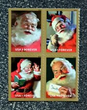 2018USA #5332-5335a Forever Sparkling Holidays Coca Cola Santa - Block of 4 Mint