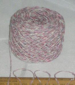 50g balls Pink & Grey Pretty Decorative 4 ply Acrylic knitting wool Vegan yarn