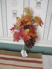 """WORTH IMPORTS  16"""" MAPLE PICK WITH PINE CONES & BERRIES -EXCELLENT CONDITION"""