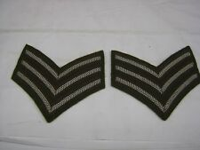 Sergeants Cloth Stripes  Arm Chevrons Rank Badge