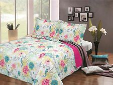 LUXURY BEDSPREAD QUILT KING, SUPER KING, DOUBLE THROW QUILTED 240cm X 260cm