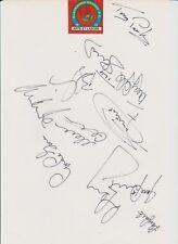 BLACKBURN ROVERS 1994-95 PREMIER LEAGUE CHAMPIONS ORIGINAL AUTOGRAPHS 11 X SIGS
