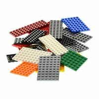 25 x Lego System Bau Platten Form Farbe zufällig bunt gemischt z.B. rot gelb