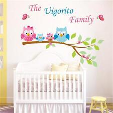 Owl Family On Tree Branch Wall Decal Sticker Home Decor Vinyl Art  Baby Nursery