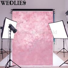 5x7ft Pink Vinyl Photography Backdrop Flowers Baby Child Background Studio Props