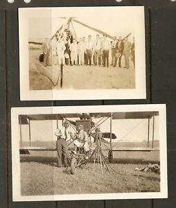 AUTOGIRO PILOTS Johnnie Miller & Al wilson + other pilots , 2 real photos