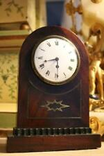 GEORGIAN MANTEL CLOCK chain fusee by FRENCH, LONDON small flame mahogany watch