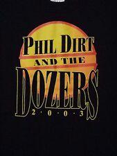PHIL DIRT & THE DOZERS 2003 SHIRT medium Columbus OHIO Rock Band