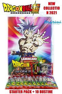DIRAMIX DRAGON BALL SUPER ULTRA POWER STARTER PACK +10 BUSTINE DI LAMINCARD 2021
