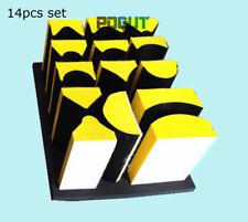14pcs Hand Sanding Abrasive Block Pad Base for Hook & Loop Sanding Disc Paper