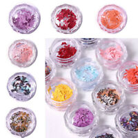 Nail Sequins Nail Art DIY 12Colors Manicure Flakes Slices Charm 3D Butterfly