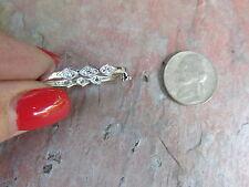 Sterling Silver Pearl Shortener Clasp Enhancer w/ Pave Sparkle Stones Design NEW