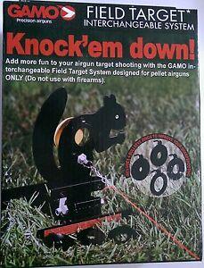 Gamo Squirrel Target, 4 bullseye reducers 177 22 pellet air rifle gun pistol