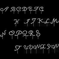 Crystal Rhinestone Diamante Monogram Initial Letter Cake Topper Wedding Decor