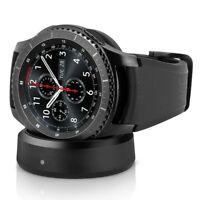 Samsung Gear S3 Frontier Stainless Steal Black Silicone Buckle Smartwatch