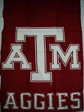 "TEXAS A&M UNIVERSITY COLLEGIATE LICENSED SCREENPRINT BANNER FLAG NEW 29"" X 41.5"""