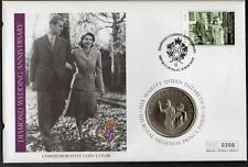 PAPAU & COOK ISLANDS 2007 DIAMOND WEDDING $1 COIN COVER