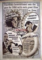 UNIVERSAL-INTERNATIONAL FILMS FOR 1956 Original 1955 Film Advert - Movie Ad