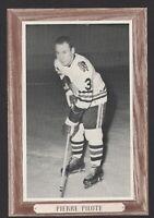 1964-67 Beehive Group III Chicago Blackhawks Photos #52B Pierre Pilote/Away