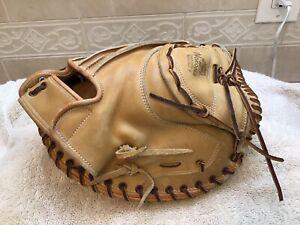 "Nokona Pro-Line CM200 35"" Baseball Softball Catchers Mitt Right Throw RELACED"