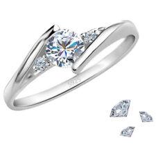 Silber Ring 925 Sterling Silber mit Swarovski Elements aus Zirkonia Verlobung