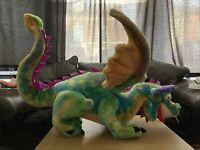 Melissa and Doug Giant DRAGON Stuffed Animal Plush over 3 feet long